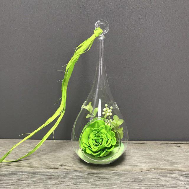 Rose éternelle vase goutte