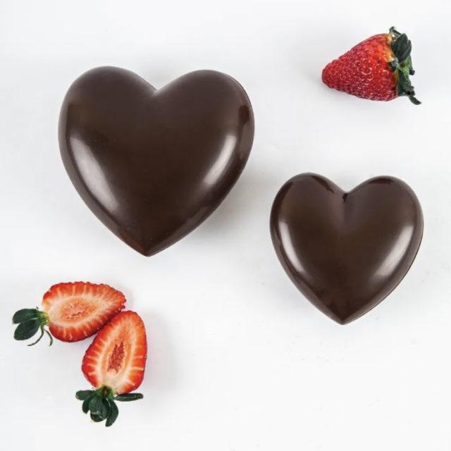 Coeur pour fondue au chocolat pour 2